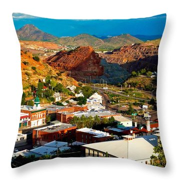 Lavender Pit In Historic Bisbee Arizona  Throw Pillow