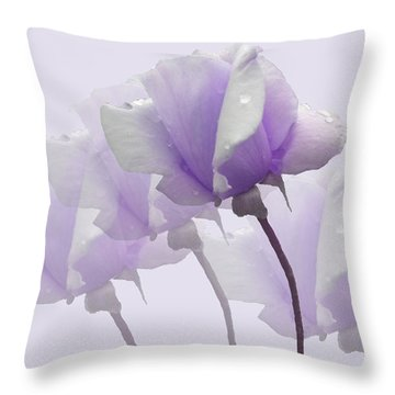 Lavender Roses  Throw Pillow