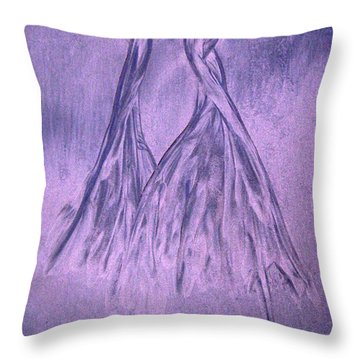 Lavender Sand Dancers Throw Pillow