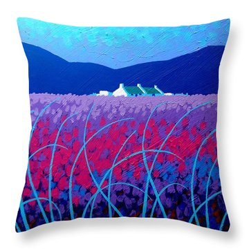 Lavender Scape Throw Pillow