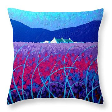 Lavender Scape Throw Pillow by John  Nolan
