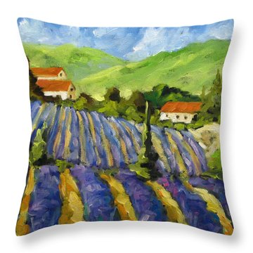 Lavender Scene Throw Pillow by Richard T Pranke