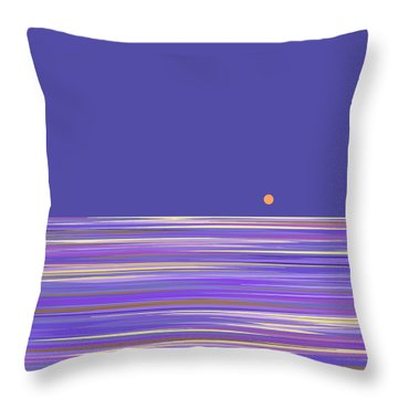 Lavender Sea Throw Pillow by Val Arie