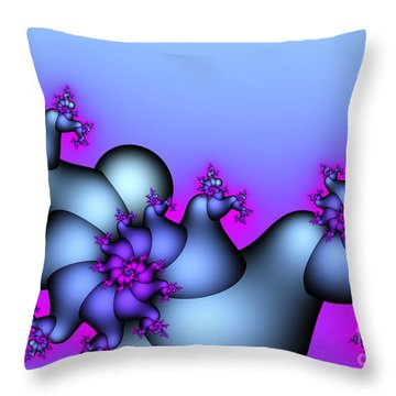 Lavender Sunrise Throw Pillow by Jutta Maria Pusl