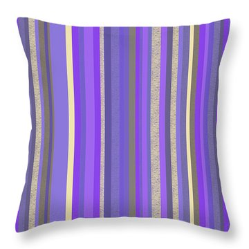 Lavender Twilight - Stripe Abstract Throw Pillow