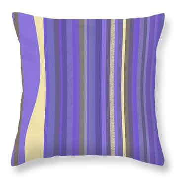 Throw Pillow featuring the digital art Lavender Twilight - Stripes by Val Arie