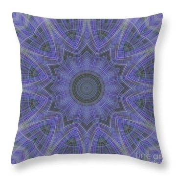 Lavender Twirl Kaleido Throw Pillow