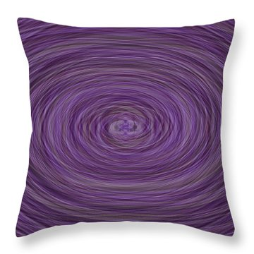 Lavender Vortex Throw Pillow