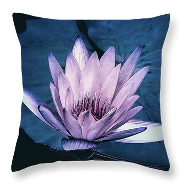 Throw Pillow featuring the photograph Lavender Water Lily  by Julie Palencia