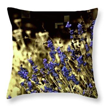 Lavender Yellow Throw Pillow