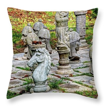 Lawn Chess Throw Pillow