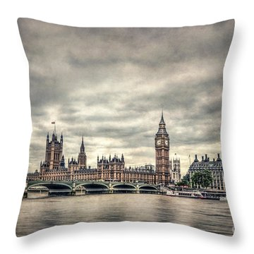 Lay Back And Think Of England Throw Pillow