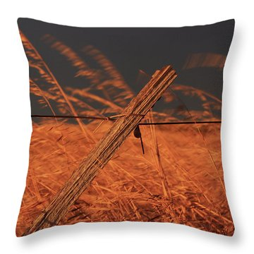 Lay Me Down In Golden Pastures Throw Pillow