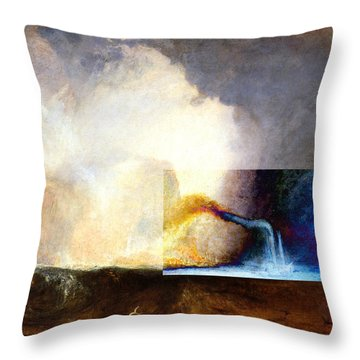 Layered 1 Turner Throw Pillow by David Bridburg