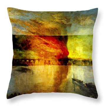 Layered 12 Turner Throw Pillow by David Bridburg