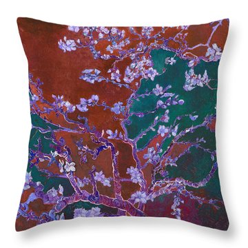 Layered 2 Van Gogh Throw Pillow by David Bridburg