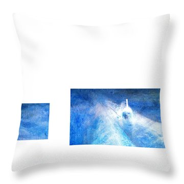 Layered 21 Turner Throw Pillow by David Bridburg