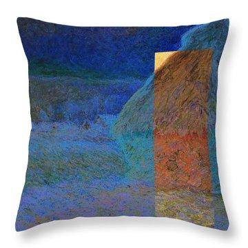 Layered 3 Monet Throw Pillow