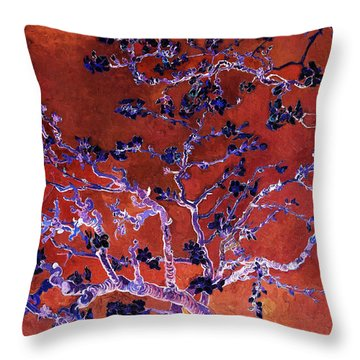 Layered 9 Van Gogh Throw Pillow by David Bridburg