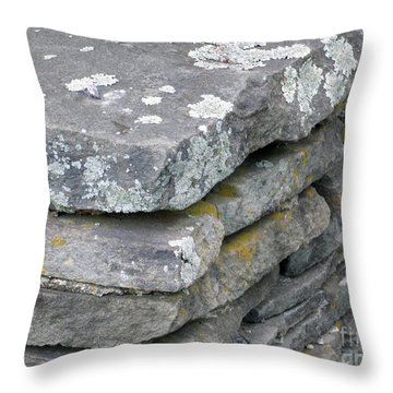 Layered Rock Wall Throw Pillow