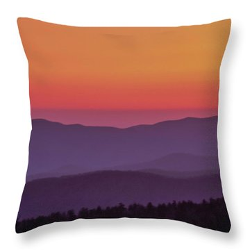 Throw Pillow featuring the photograph Layers 2005 01 by Jim Dollar