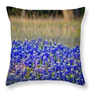 Throw Pillow featuring the photograph Layers Of Blue by Linda Unger