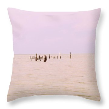 Throw Pillow featuring the photograph Layers Of Calm by Deborah  Crew-Johnson