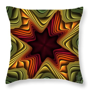 Layers Of Color Throw Pillow by Deborah Benoit
