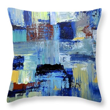 Layers Of Color Throw Pillow