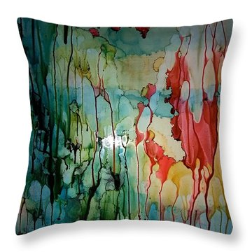 Layers Of Life Throw Pillow