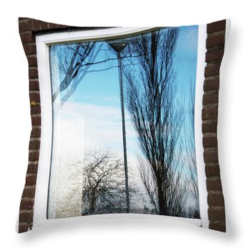 Layers Of Reality Throw Pillow by Ana Mireles