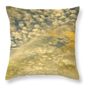 Throw Pillow featuring the photograph Layers Of Sky by Wanda Krack