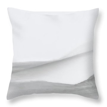 Layers Of Snow Throw Pillow