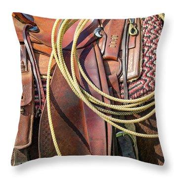 Layers Of Tack Throw Pillow