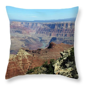 Layers Of The Canyon Throw Pillow