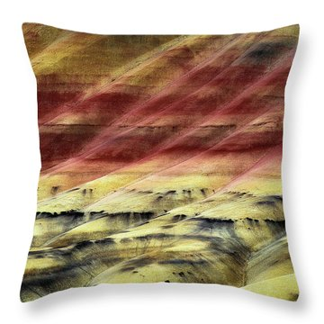 Layers Of Time Throw Pillow by Ryan Manuel