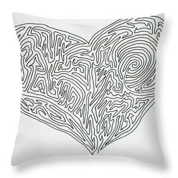 Laying Your Heart On A Line  Throw Pillow