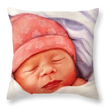 Layla Throw Pillow by Marilyn Jacobson