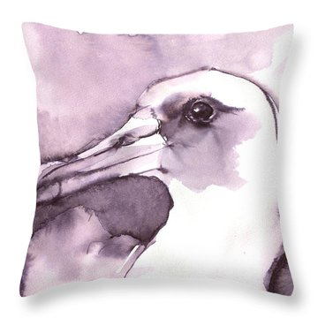 Laysan Albatross Throw Pillow