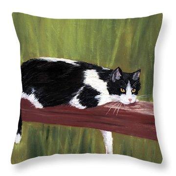 Lazy Day Throw Pillow by Anastasiya Malakhova