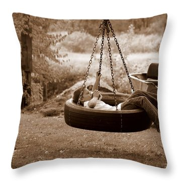 Lazy Days Throw Pillow by Linda Mishler