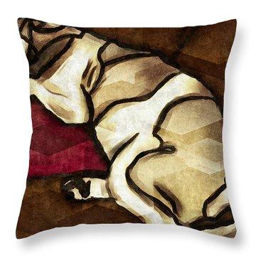 Lazy Hound Throw Pillow