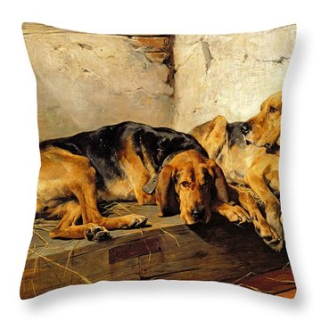 Lazy Moments Throw Pillow by John Sargent Noble