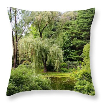 Lazy Pond Throw Pillow
