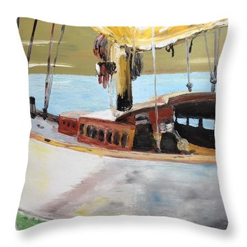 Lazy Sloop Throw Pillow