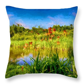 Lazy Summer Throw Pillow by Tricia Marchlik