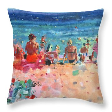 Lazy Sunny Afternoon Throw Pillow
