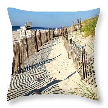 Lbi Dunes Throw Pillow
