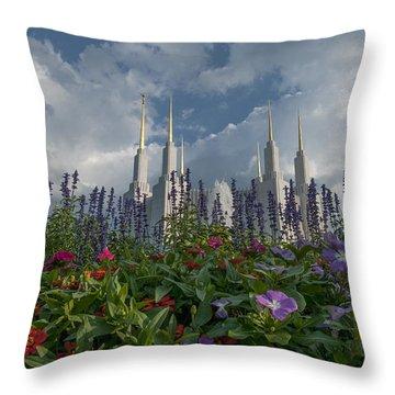 Lds Garden Flowers Throw Pillow