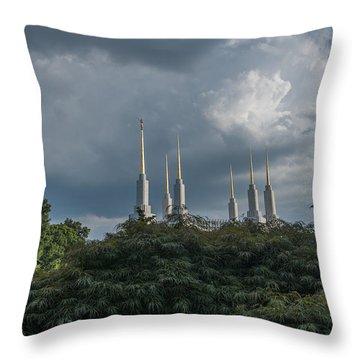 Lds Storm Clouds Throw Pillow